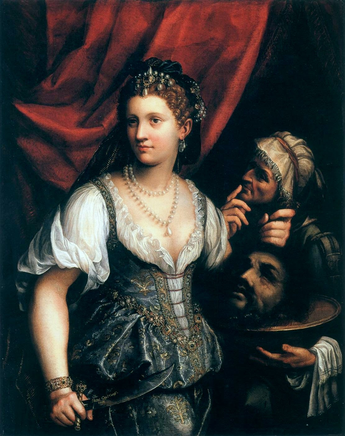 Judith With the Head of Holofernes (1593), Fede Galizia (autoportrait supposé)