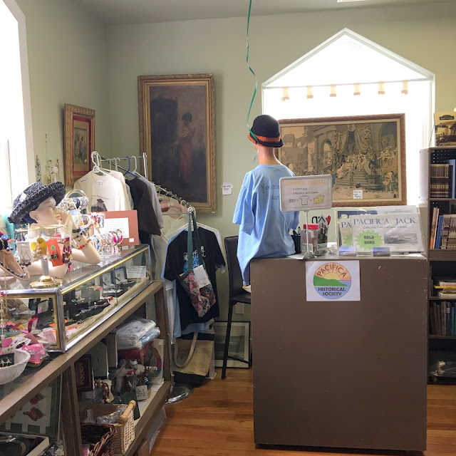 gift shop in Little Brown Church in Pacifica, California