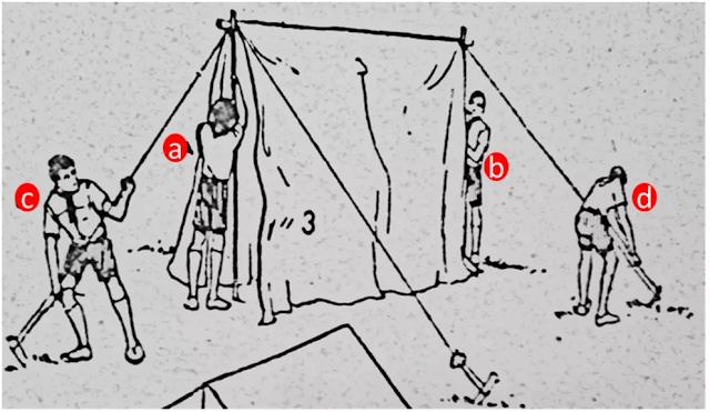 mendirikan tenda kemah