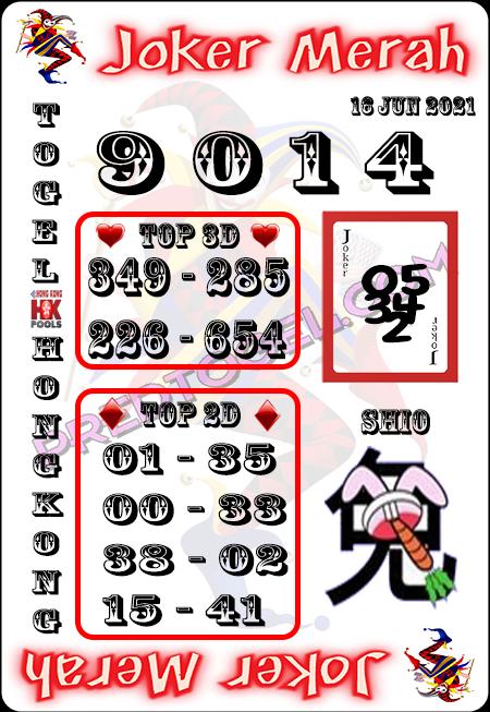 Prediksi Joker Merah HK rabu 16 Juni 2021