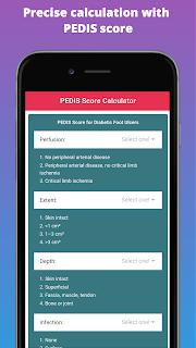 Precise calculation with  PEDIS score