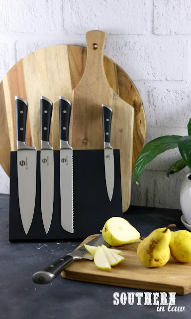 Stylish Knife Block Set Australia - Schaffen Magentic Knife Block Set Review