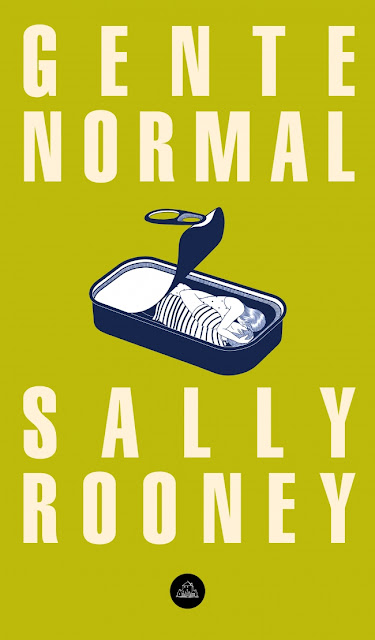 Portada del libro Gente Normal con dos personas acurrucadas dentro de una lata de sardinas