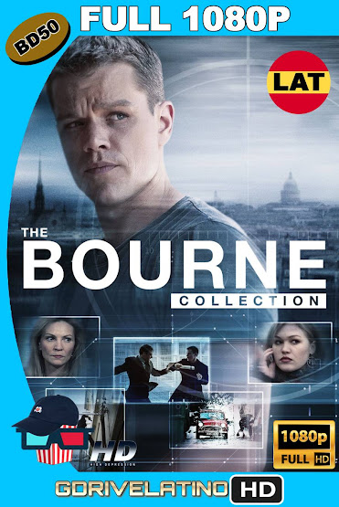 Bourne (2002-2016) Colección BD50 FULL 1080p Latino-Ingles ISO