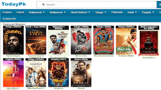 Todaypk – Download or Watch Hindi, Telugu, Malayalam, South Dubbed Movies