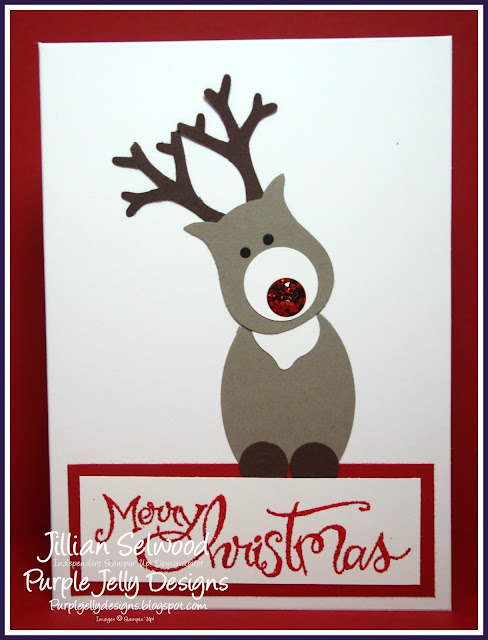 Rudolph, Punch Art Christmas Card, Owl builder punch