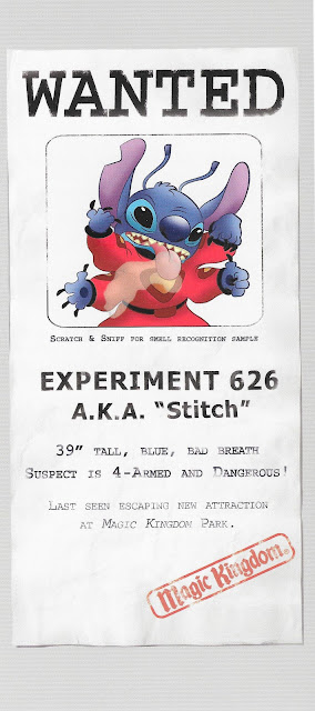 Experiment 626 Escaped Stitch Magic Kingdom Opening Pamphlet Great Escape