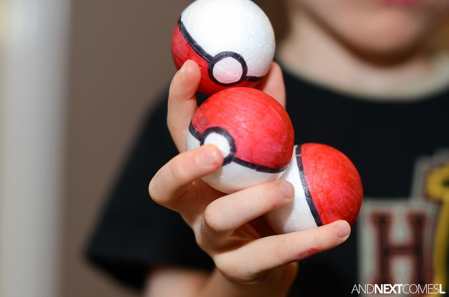 Coloring Pages Of Pokemon Balls : Diy pokeballs and next comes l