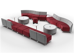 modular lobby seating configuration - Woodstock Jefferson Series