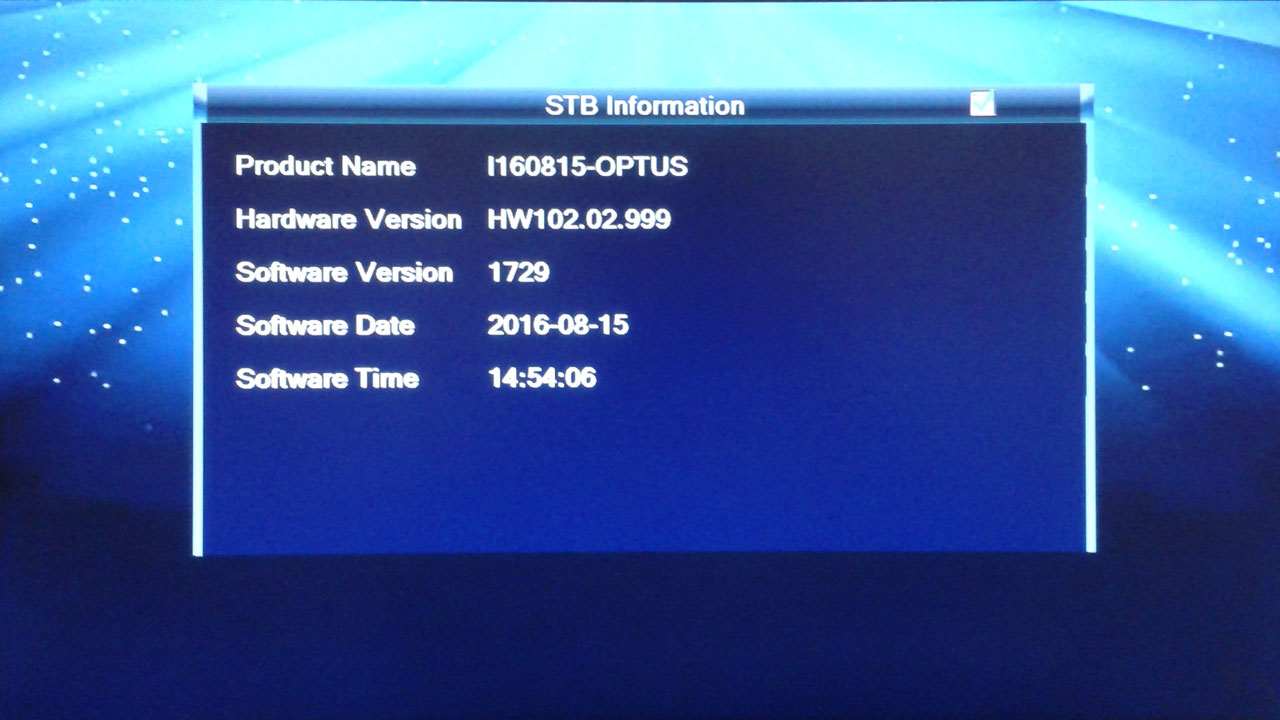 SW Receiver Optus HD Firmware Software Terbaru