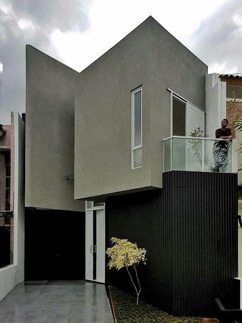 Asymmetrical 2-Story Minimalist House