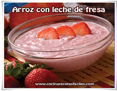 Arroz con leche de fresa, el arroz con leche es una receta internacional, es una verdadera delicia un postre delicioso, de textura suave y muy sencilla de preparar, hoy le combinaremos  con fresas que le da un sabor y color  espectacular.
