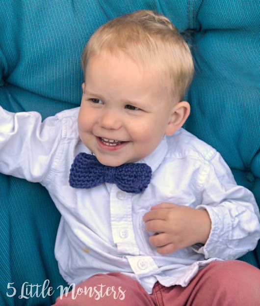 Crocheted Toddler Bow Tie