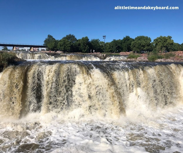 The Big Sioux River powerful and mighty.