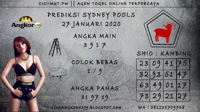 PREDIKSI SYDNEY POOLS 27 JANUARI 2020
