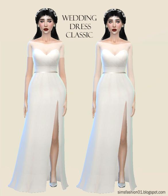 Sims 4 Wedding Dress.Sims Fashion01 Simsfashion01 Satin Wedding Dress The Sims 4