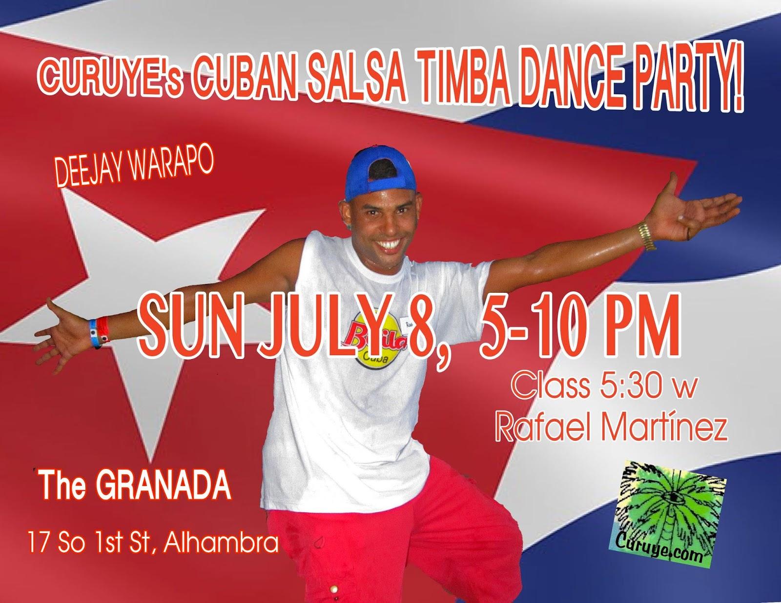 San Diego Rueda  CURUYE S JULY CUBAN SALSA TIMBA DANCE PARTY w ... 695ff98ddee