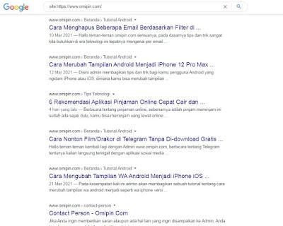 Artikel Minimal 20 Serta Harus Di-Index Google