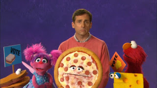 celebrity Steve Carell, Elmo, Abby Cadabby, vote, Sesame Street Episode 4311 Telly the Tiebreaker season 43
