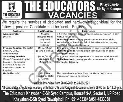 The Educators School Jobs September 2021