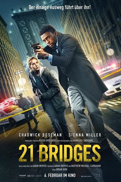 Download 21 Bridges (2019) Dual Audio [Hindi+English] 720p + 1080p Bluray ESubs