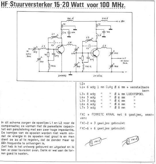 FM Transmitter Amplifier 15Watt 2N3553 & 2N3632   RF Circuits