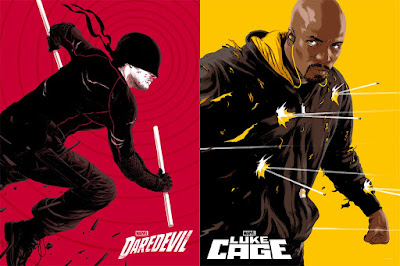 Marvel's Daredevil & Luke Cage Screen Prints by Matthew Woodson x Mondo