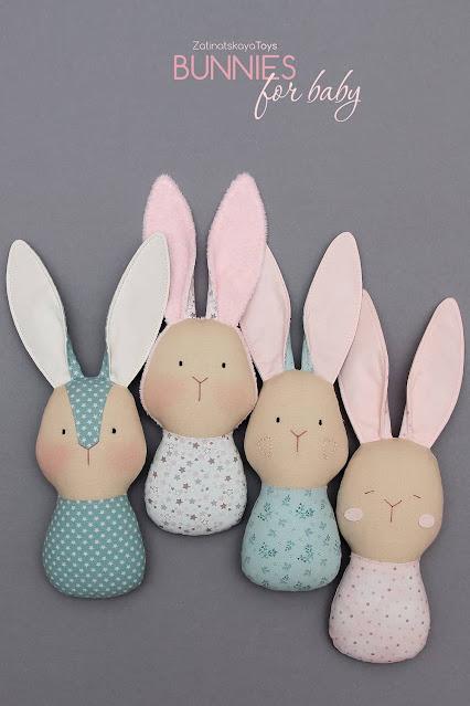 DIY four baby bunny toys