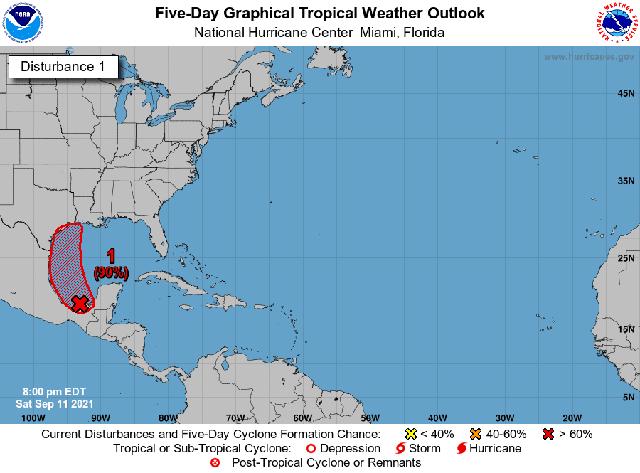 Aumenta a 90% probabilidad de una depresión en el Golfo de México