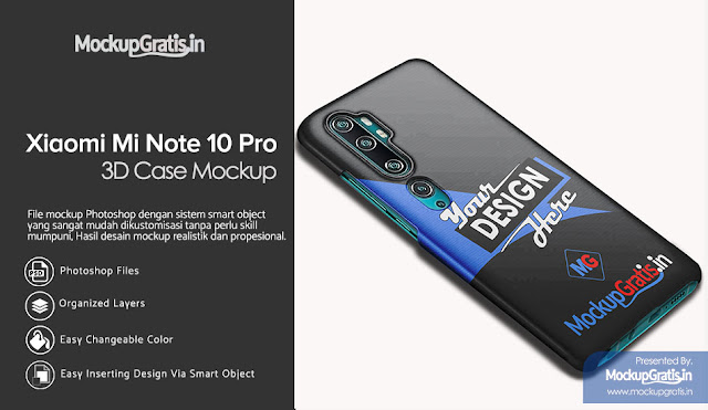 Mockup Custom Case Xiami Mi Note 10 Pro