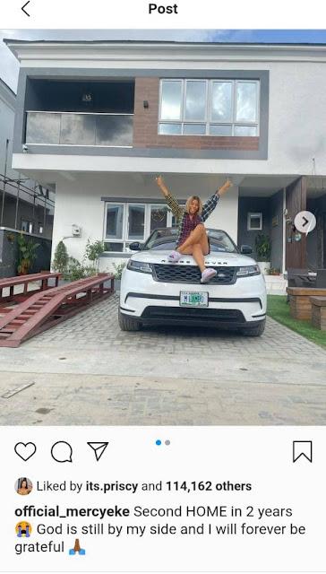BBNaija star, Mercy Eke acquires a Mansion (Photos)