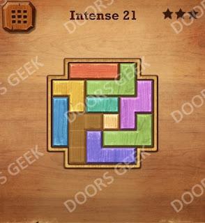 Cheats, Solutions, Walkthrough for Wood Block Puzzle Intense Level 21