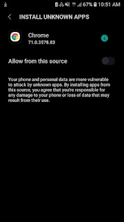 Instal unknown apps, allow from this source
