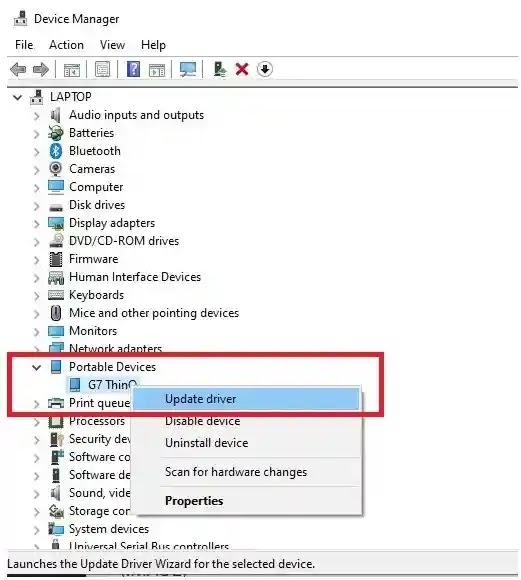 تحديث برامج التشغيل