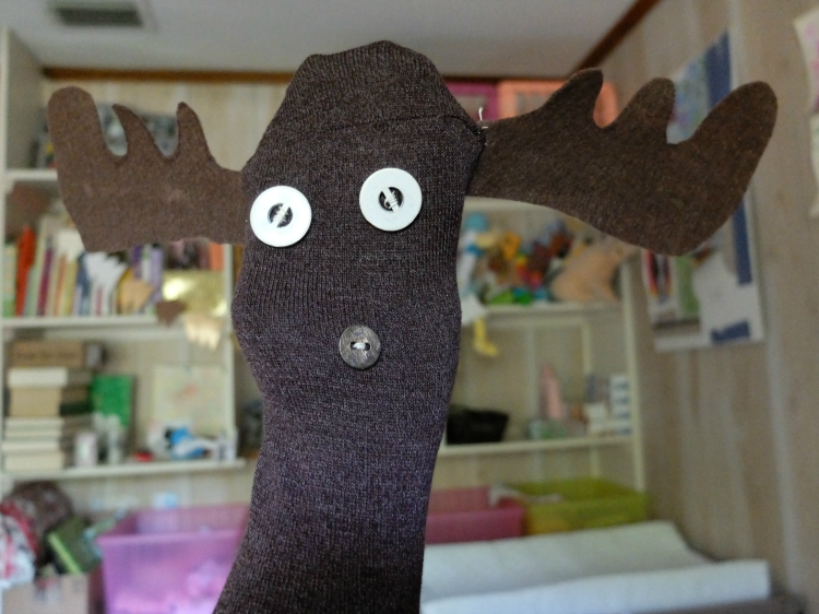 Moose Sock Puppet