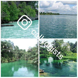 See Photos Of Azumini Blue River In Abia State That Turns Green Whenever It Rains