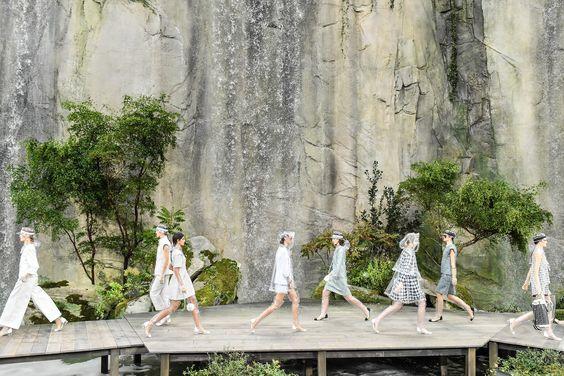 Chanel, Fashion Show, Waterfall, Paris, France, Paris Fashion Week, Grand Palais, Models, Fashion Show, Venue