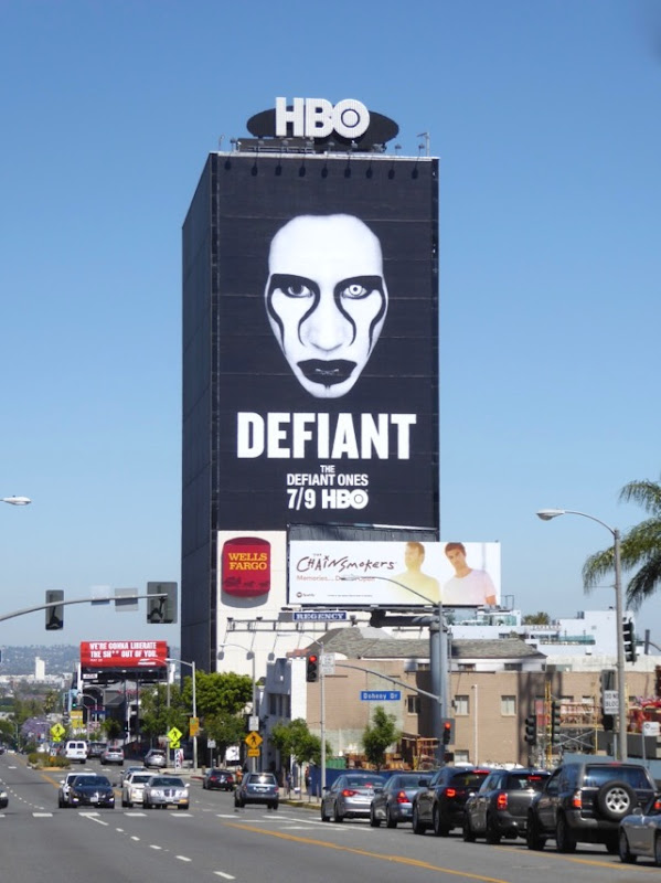 Giant Marilyn Manson Defiant Ones billboard Sunset Strip