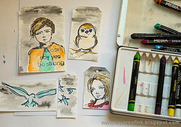 Layers of ink - Scribble Sticks Journal Page Tutorial by Anna-Karin Evaldsson