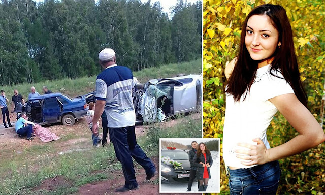 Guzel Zakirovawas crushed to death while on her way to her own wedding
