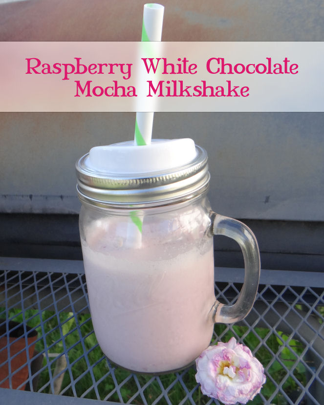 Raspberry white chocolate mocha milkshake recipe