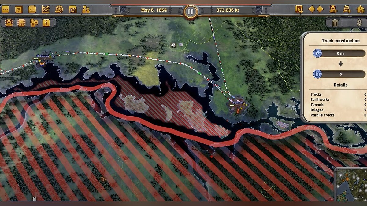 How to unlock new construction areas in Railway Empire - Northern Europe