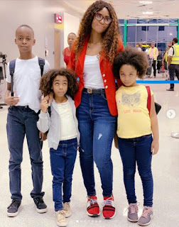 Regina Daniels Jets Out With Her Stepchildren For Vacation [Photos]