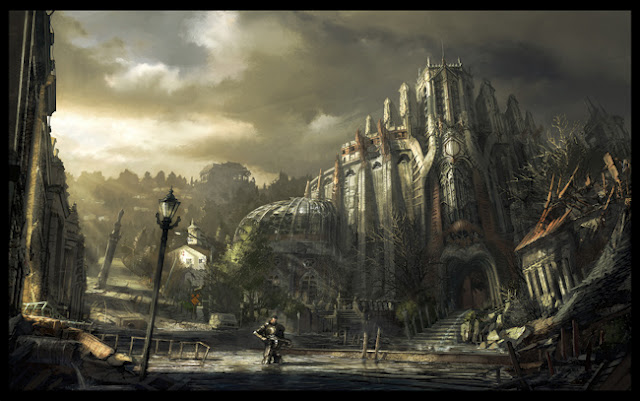 gears of war 3 concept artwork building