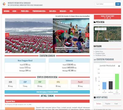 Halaman Informasi - Sistem Informasi Desa OpenSID Berbasis Web