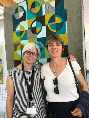 Luna Lovequilts - Exhibition at Aigu'illes en Luberon festival 2019 with ART-TEX