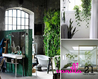 Bathroom Decorating with Plants and Flowers