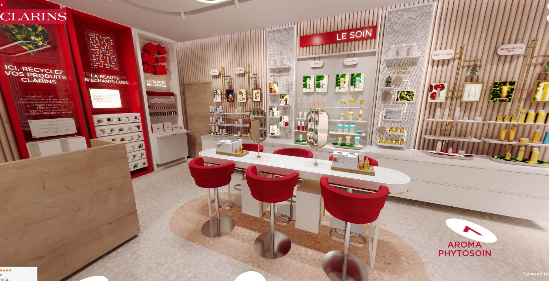 avis et test virtual store boutique beauté clarins