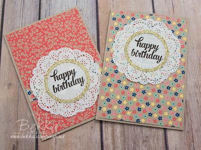 How To Make 6 Birthday Cards From A Single Sheet of 12x12 Patterned Paper - Buy Stampin' Up! UK here