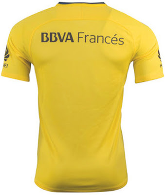 17-18 Boca Juniors Away Yellow Soccer Jersey
